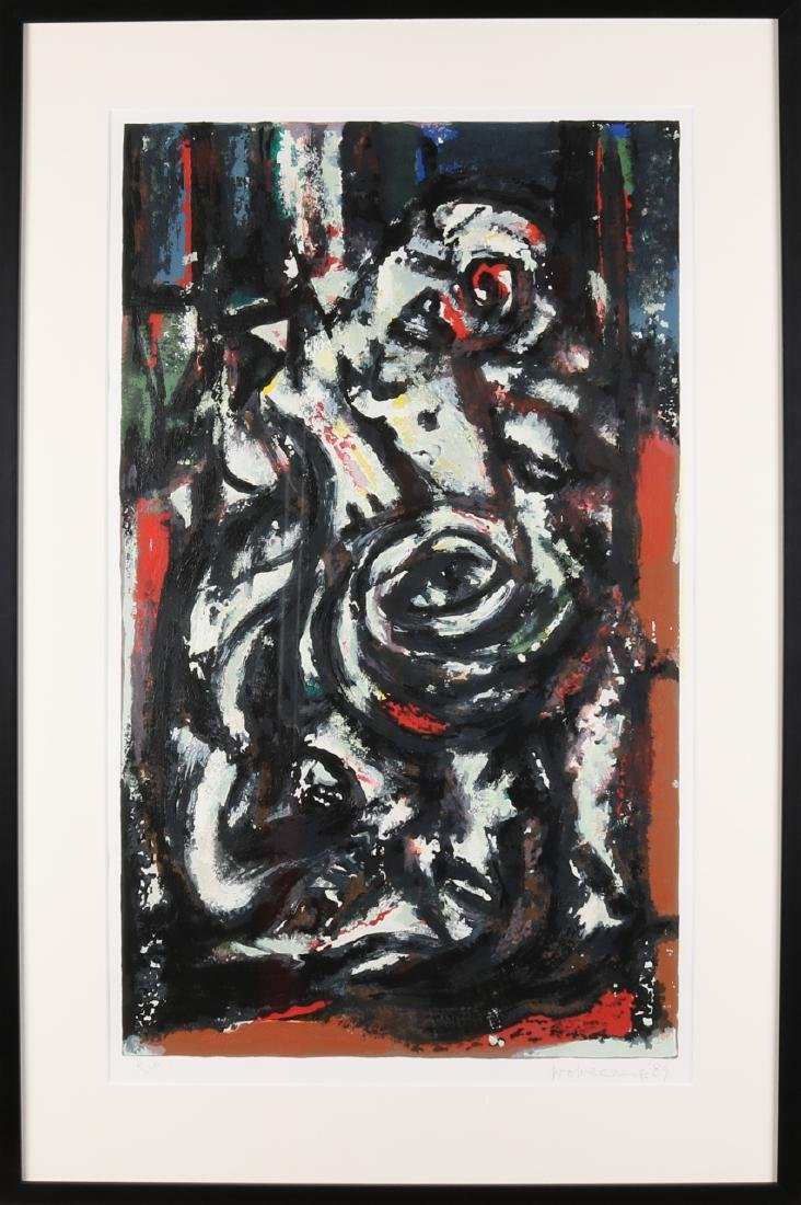 Theo Wolvecamp '89. 1925 - 1992. Hengelo. Lithograph. Hand signed. Epreuve d'Art