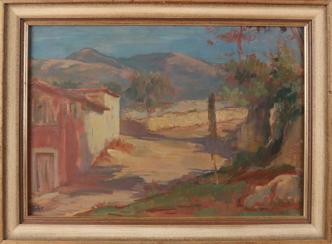Arthur Fohr. 1893 - 1982. German school. Mountainous landscape. Oil paint on pan