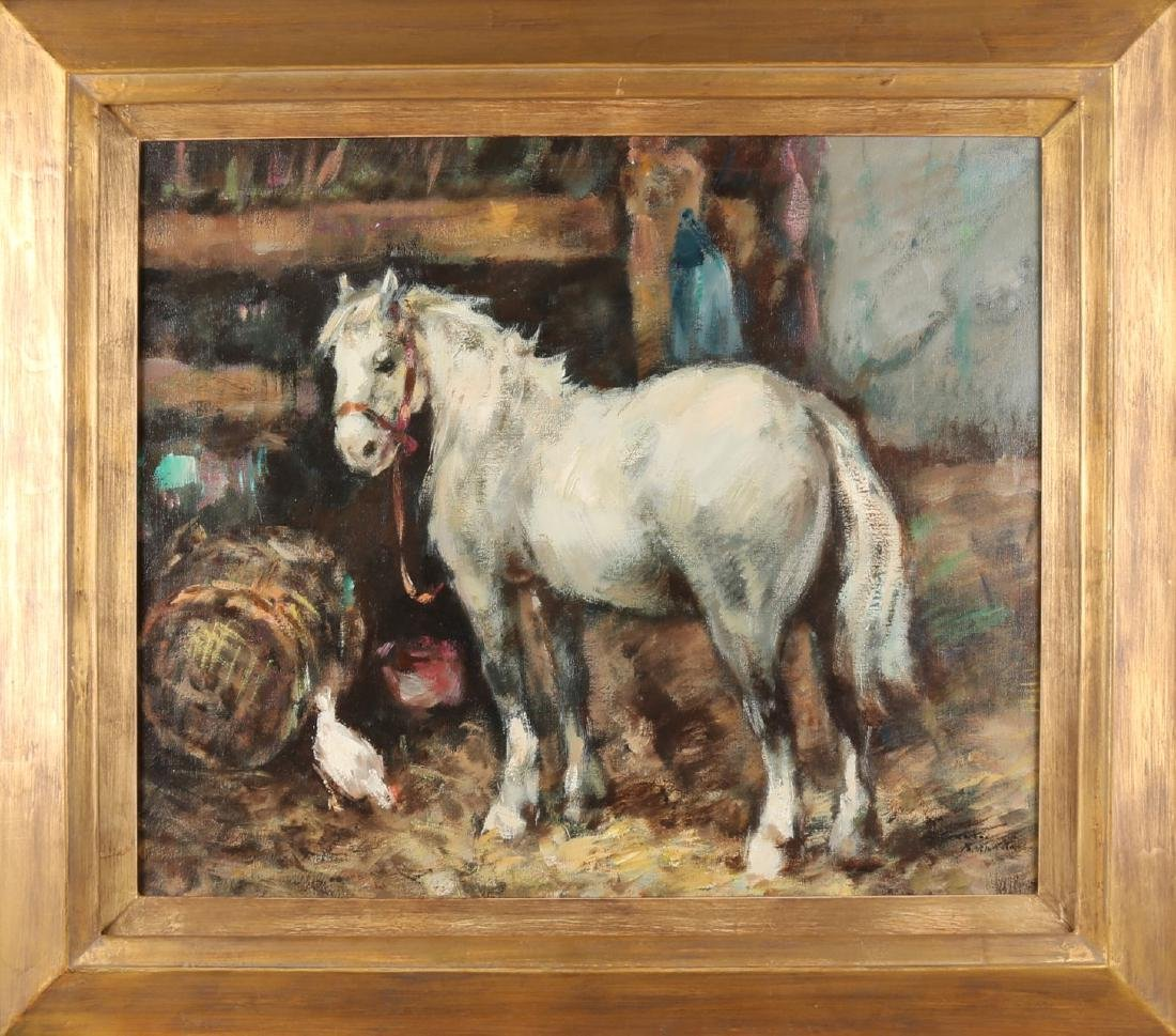 Gerard Bornkarst? Second half of the 20th century. Stable with horse and chicken