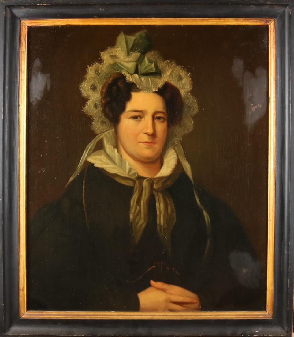 Unsigned. 19th century. Lady's portrait. Oil paint on linen. Size: 65 x 75 cm. I