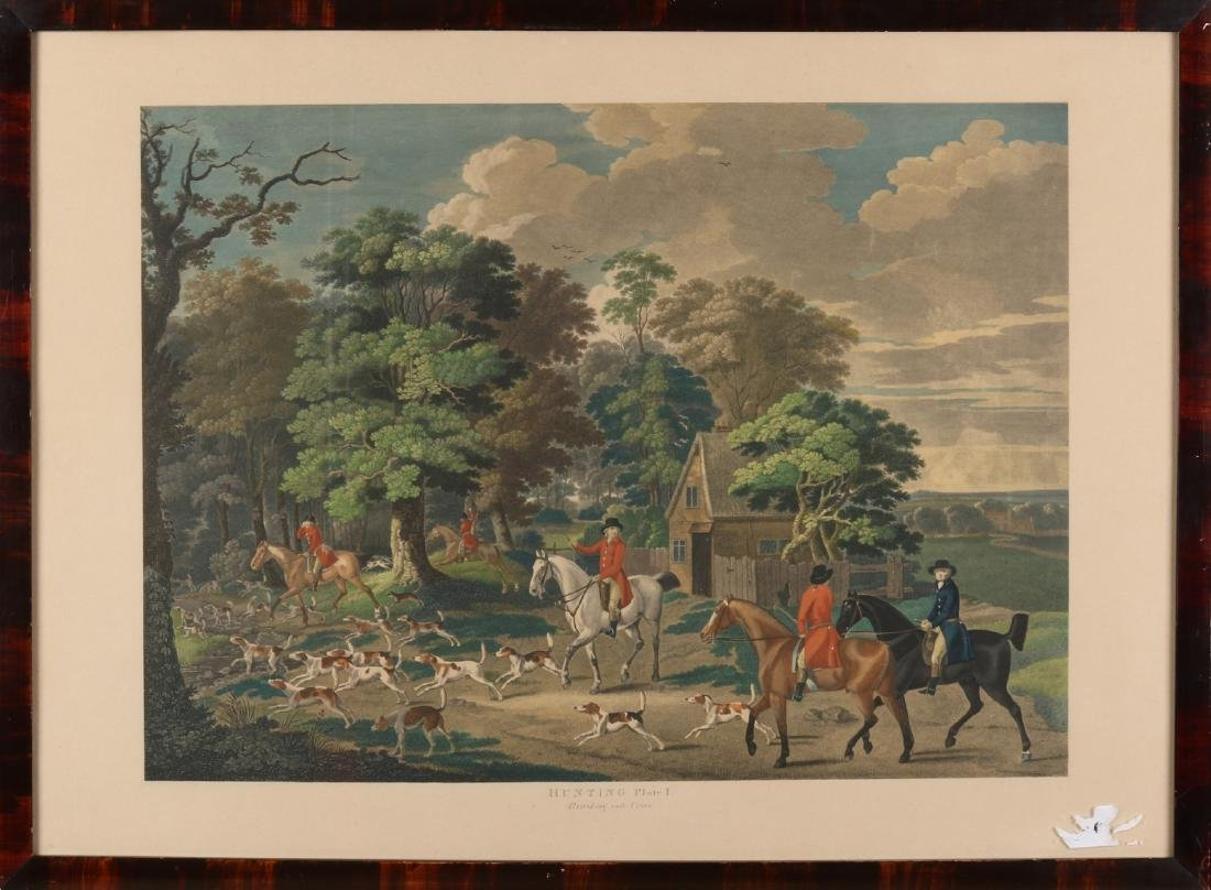 Two antique prints. Circa 1900. One time: Hunting Plate 2, The Chase. One time: