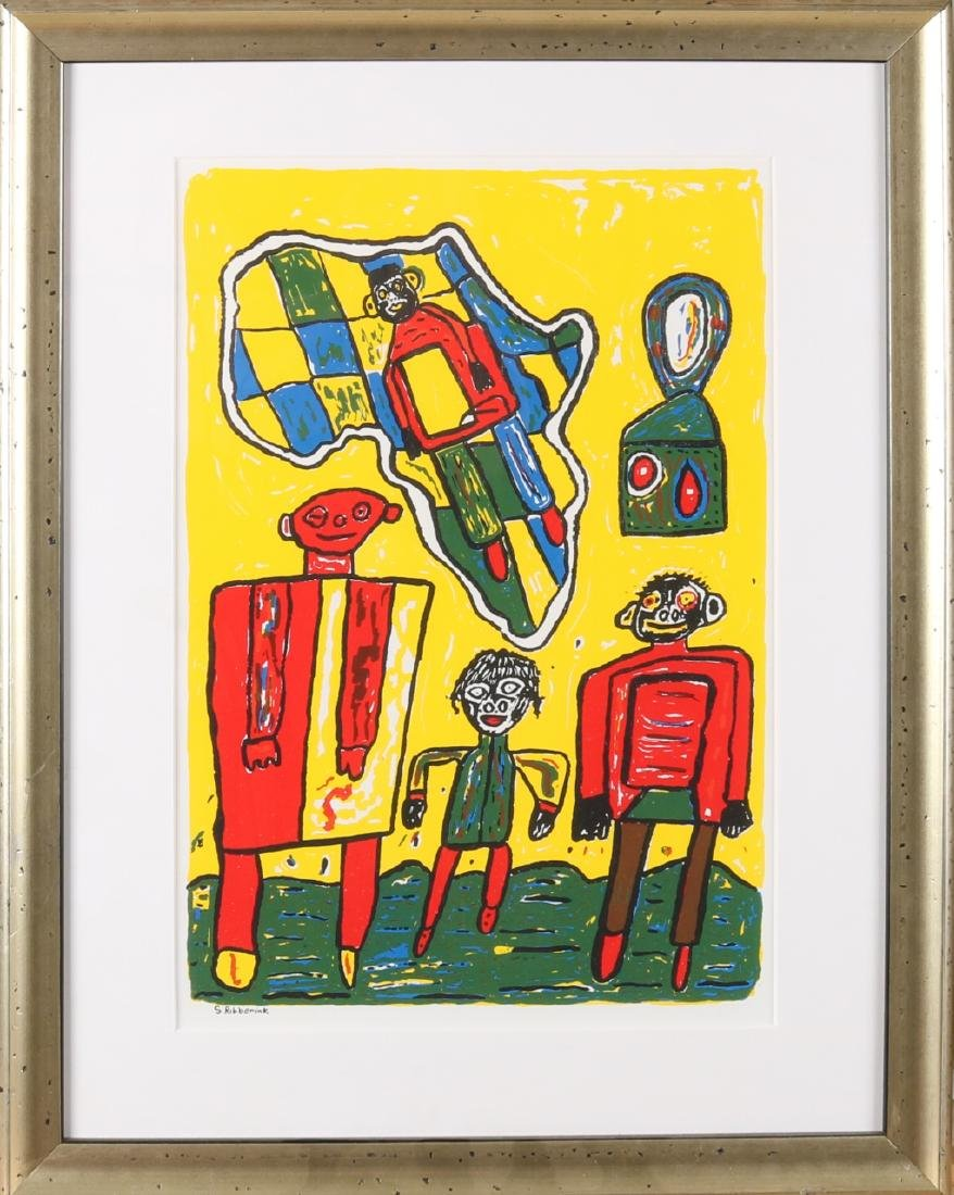 Suzanne Ribberink. 1968. The Hague. Naive figurative representation. Lithography