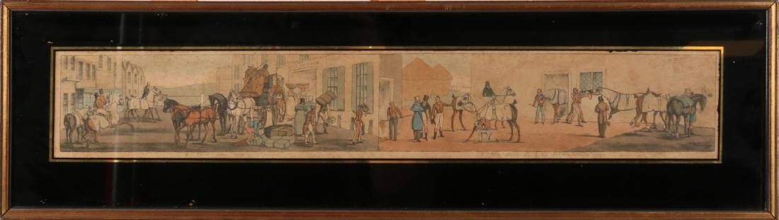 19th century hand-colored English engraving. These come hopping. Now effectives