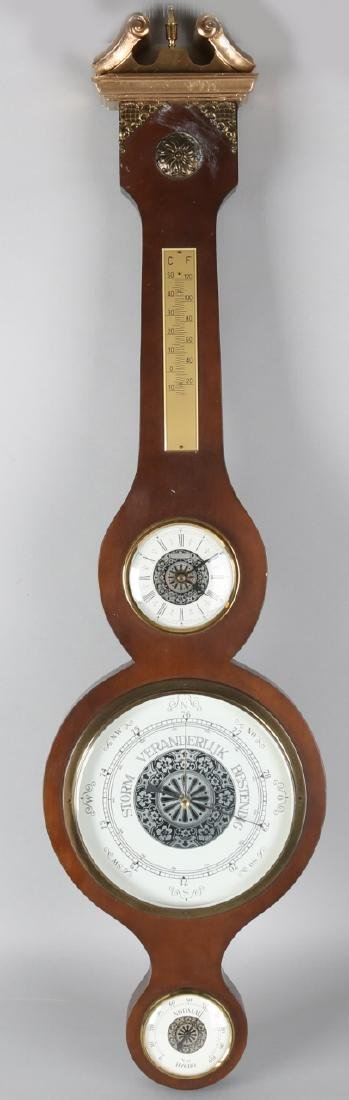 Old barometer with battery function, according to old example. Second half of th