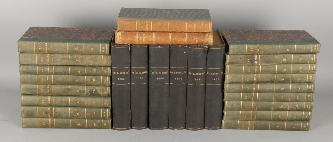 Lot with various volumes of The Catholic, religious, historical and literary mag