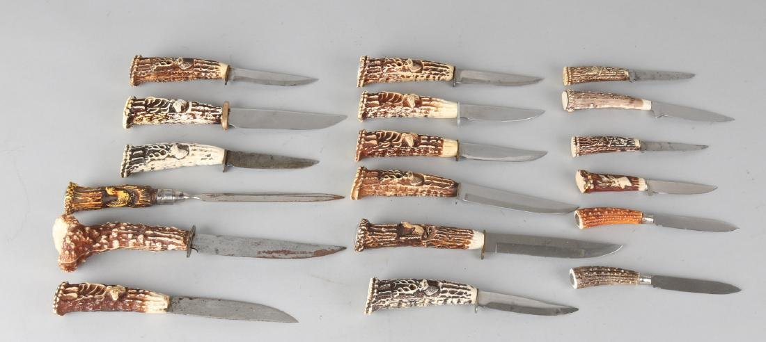 Lot old hunting knives. Second half of the 20th century. Size: about 13 - 22 cm.