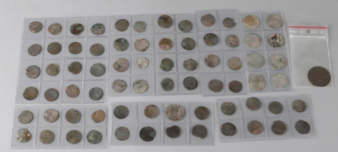 Special lot with 73 coins of which many (or all) around the 16th - 17th century.