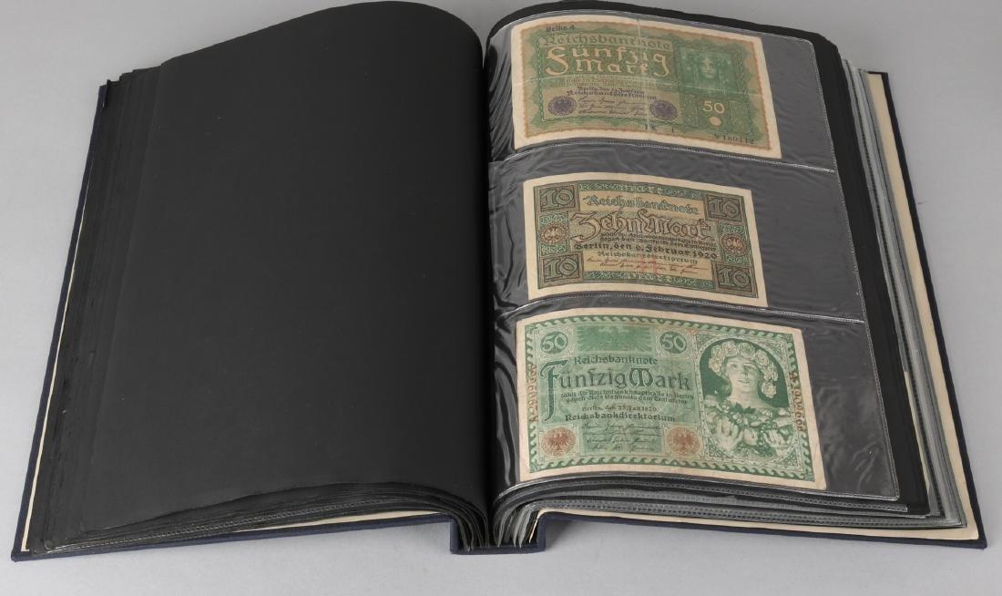Album with ca. 125 German banknotes.