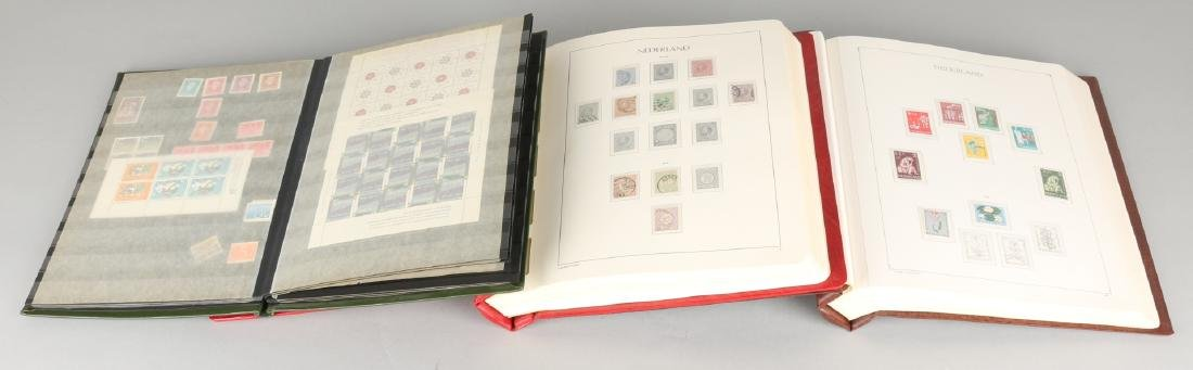 One collection of Dutch used / unused in red leuchtturm album. 1852 - 1993. Nice