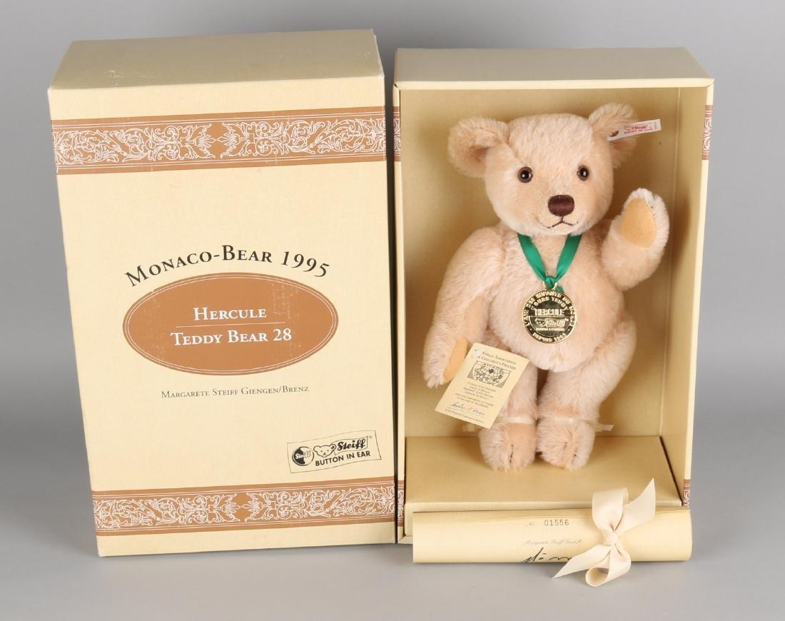Steiff Monaco-Bear 1995, Hercule Teddy Bear 28, Limited edition 1556/3000, compl