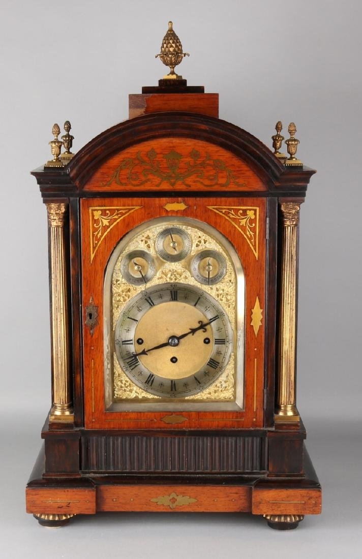 Very large 19th century English table clock, Bracket clock with carillon on eigh