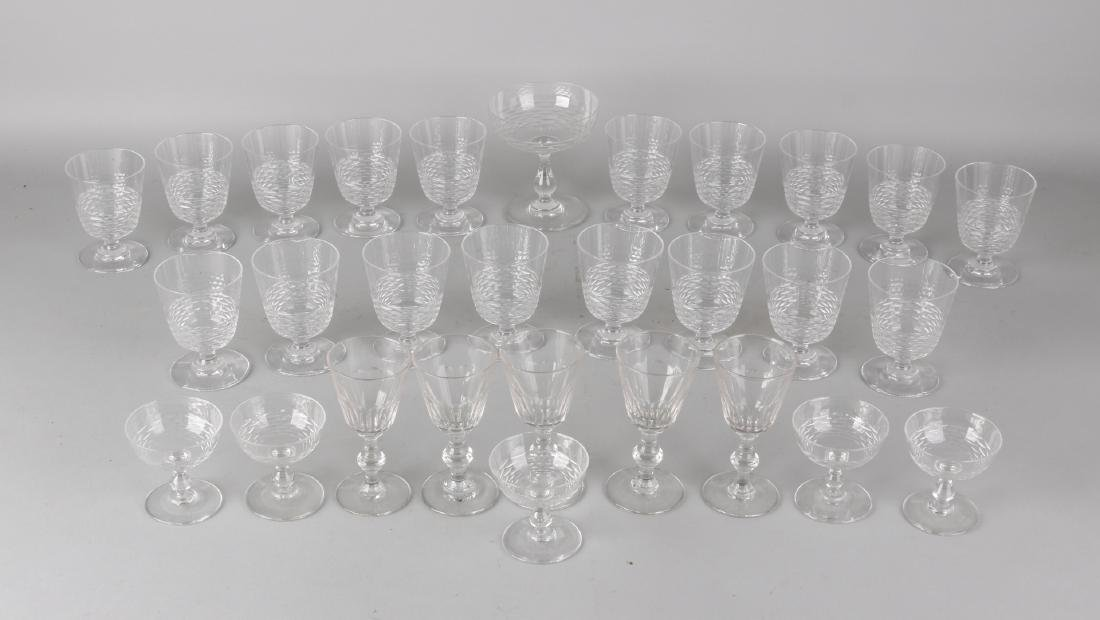 Lot of 29 pieces of old glasses. First half of 20th century. Size: 7 - 11 cm. In