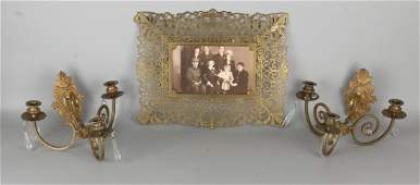 Three times antique copper work. Circa 1900. Consisting