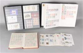 Collection of stamps. Among others: Two stock books