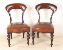 Four separate 19th century English mahogany dining room