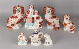 Seven parts old / antique English porcelain. One large