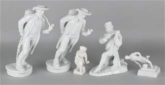 Five German porcelain figures. Second half of the 20th