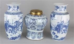 Three old / antique vases. With figures decor.