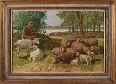 J. Strahn. German School. 1904 - 1997. Sheep shepherd