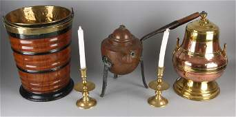 Five times old / antique copper work. Consisting of: