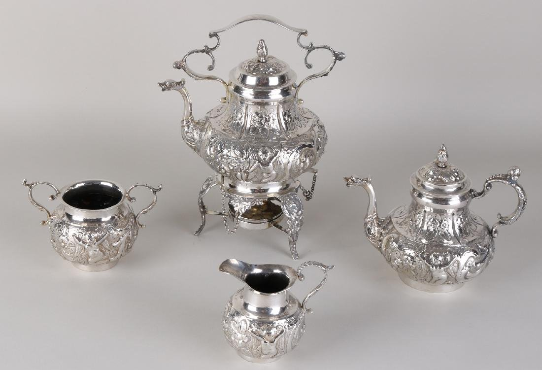 Antique silver service, 800/000, 5 parts, with coffee,