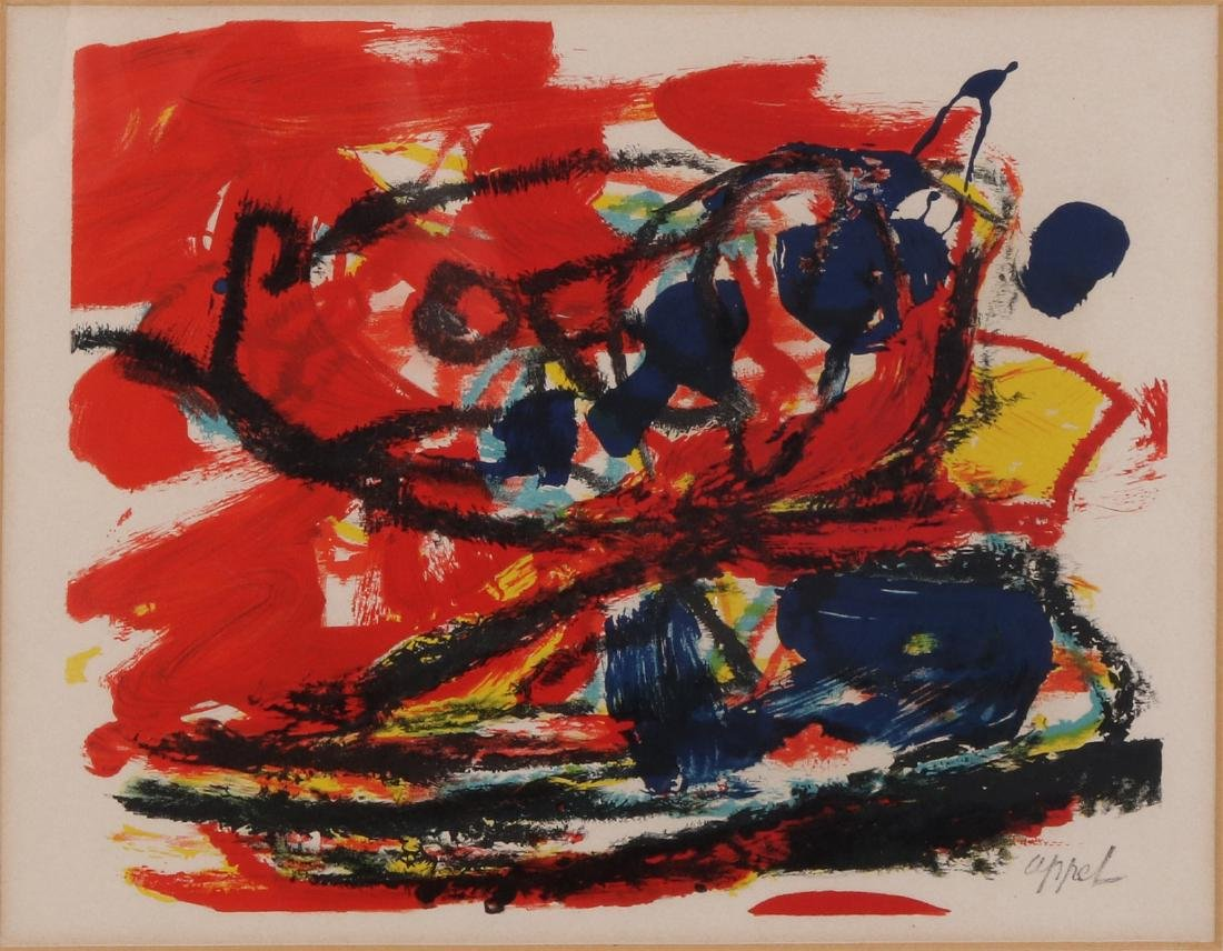 Karel Appel. 1921 - 2006. Abstract composition.