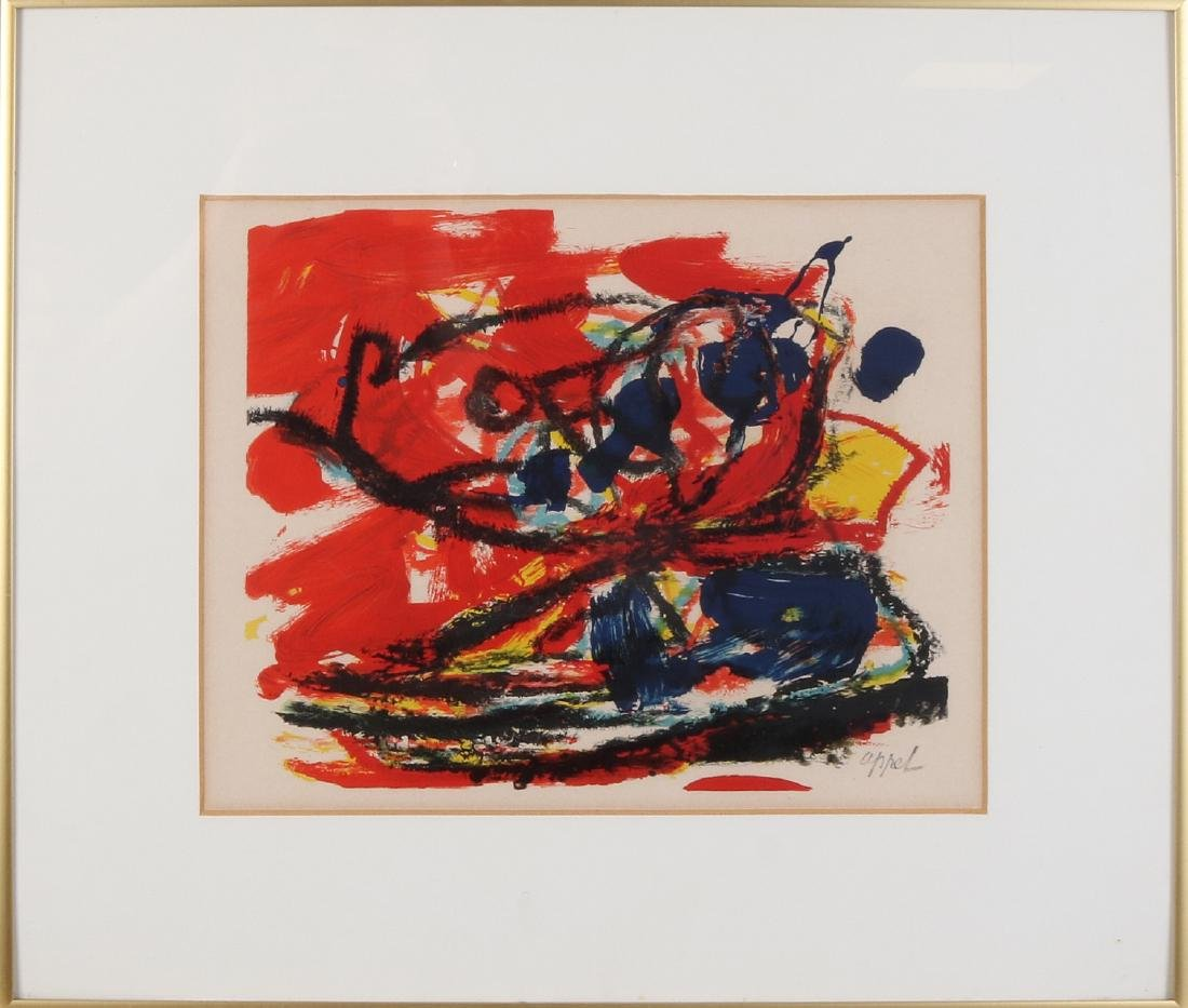 Karel Appel. 1921 - 2006. Abstract composition. - 2