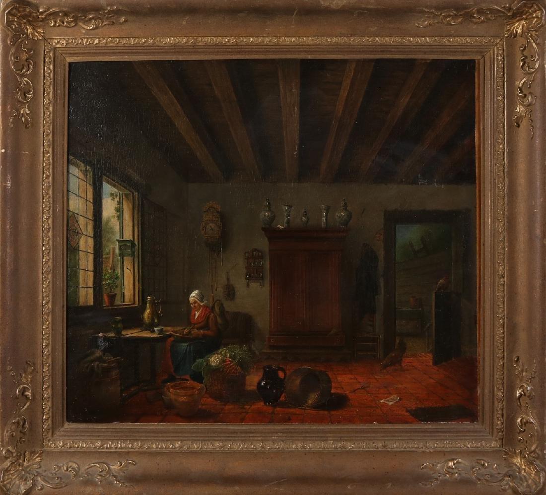 Dutch School. 18th - 19th Century. Frisian interior