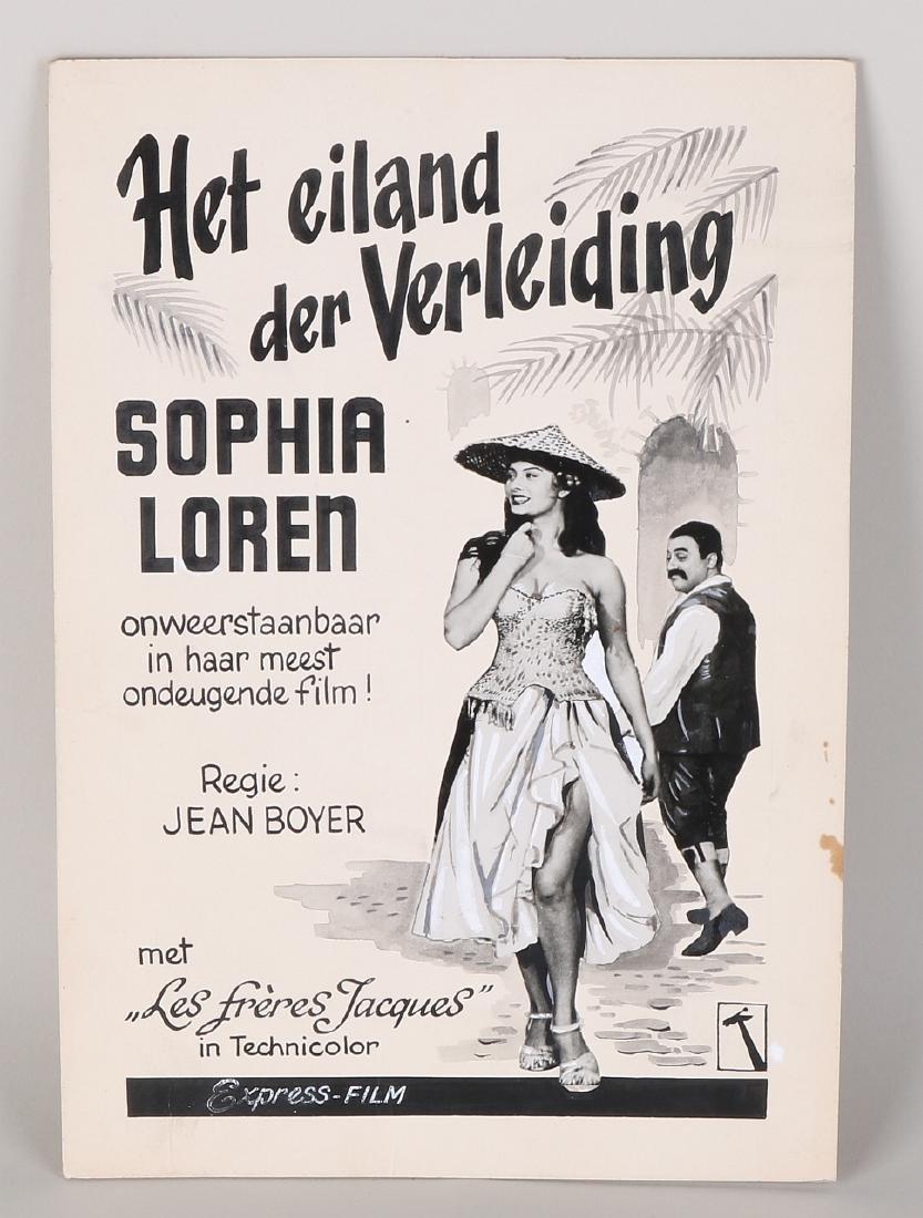 Sophia Loren poster for film 'The island of Seduction'.