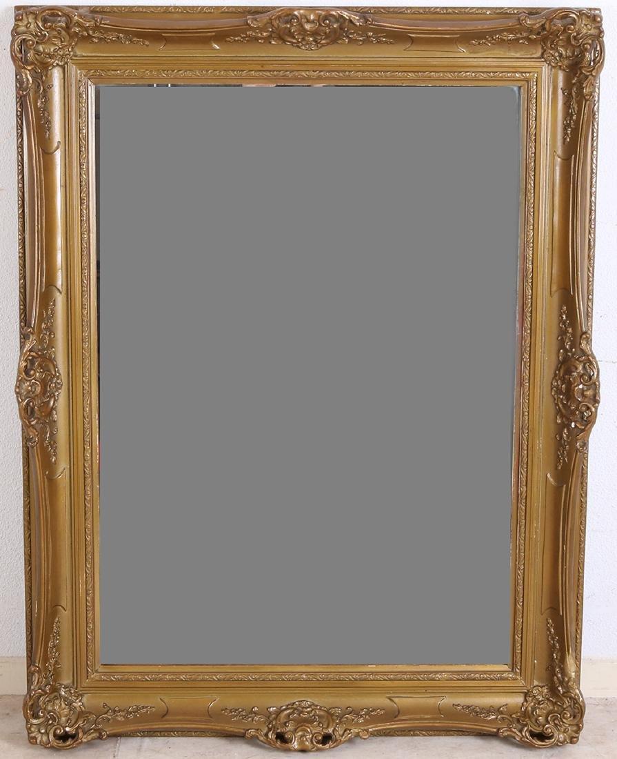 Antique mirror with stucco Baroque table. Circa 1900.