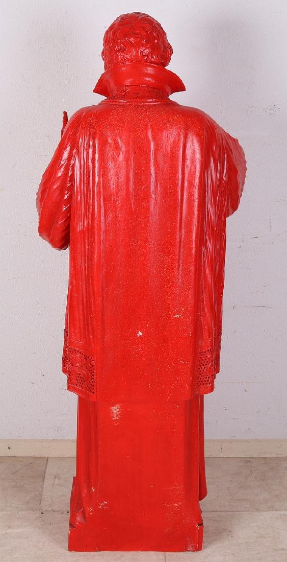 Large 19th century wood-carved church Holy figure. - 2