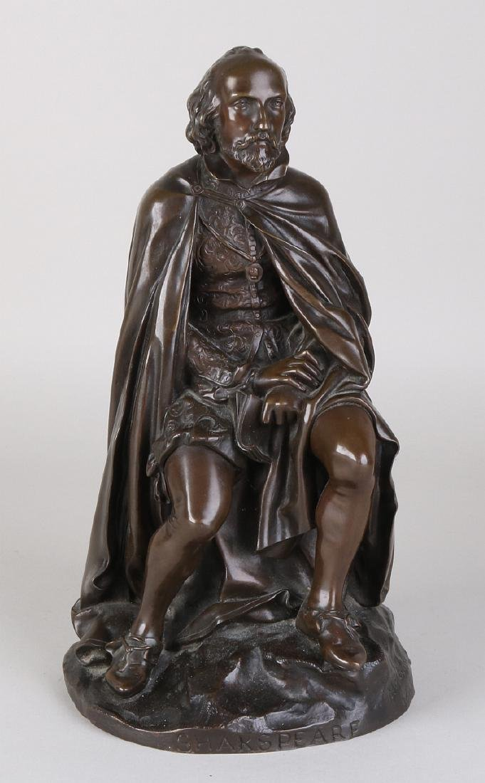 19th Century bronze figure. Shakespeare. By Melinque.