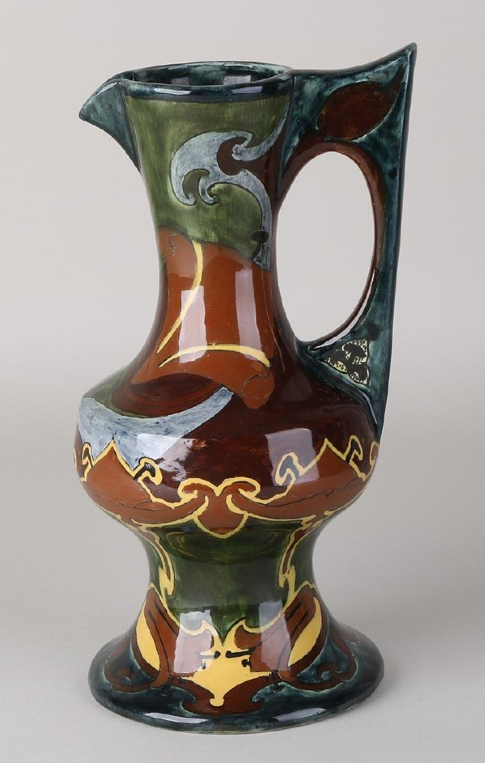 Dutch antique pottery jug from De Distel (Amsterdam).