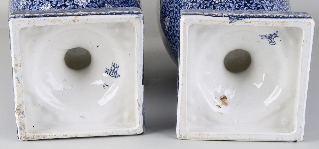 Two large antique Villeroy and Boch, Bonn vases with - 3