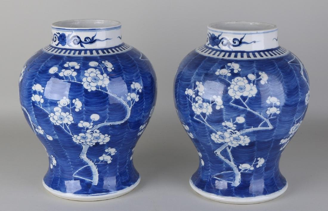 Two large 19th century Chinese porcelain vases with