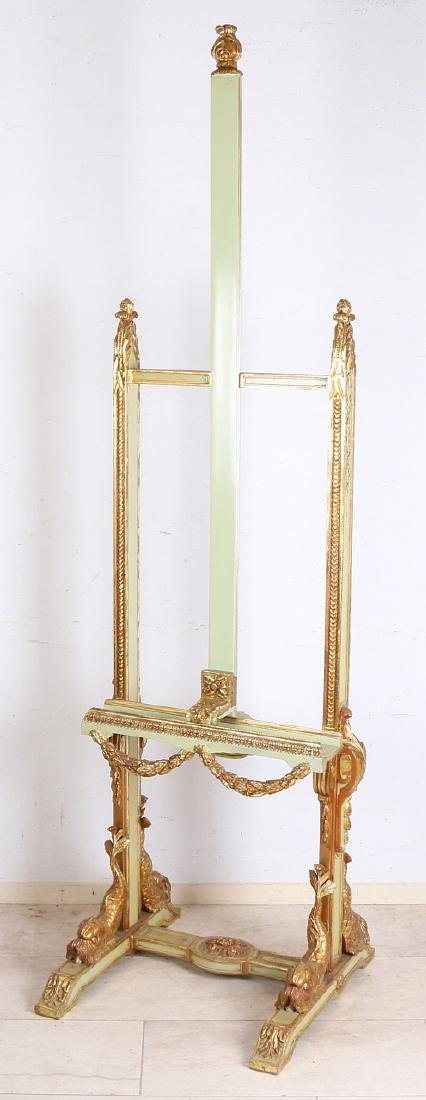 Beautiful gilt wood carved easel with dolphins and