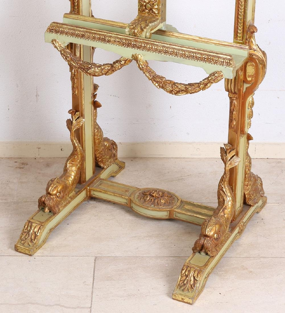 Beautiful gilt wood carved easel with dolphins and - 2