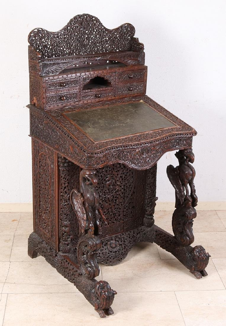 Antique colonial wood-carved 19th century English
