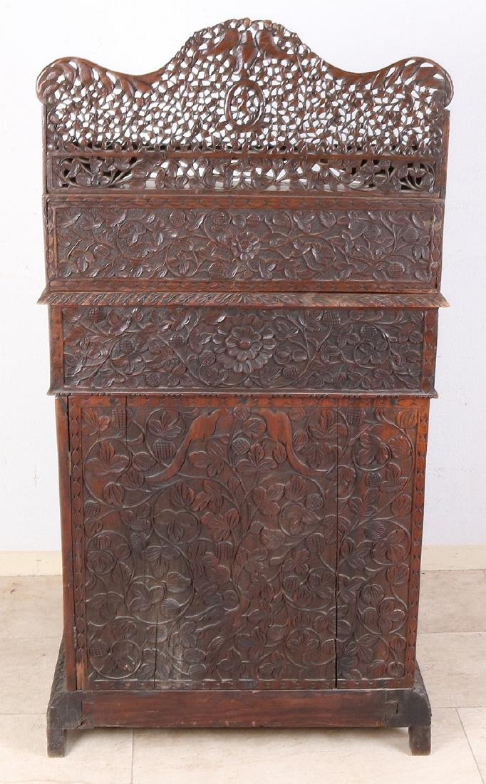 Antique colonial wood-carved 19th century English - 5