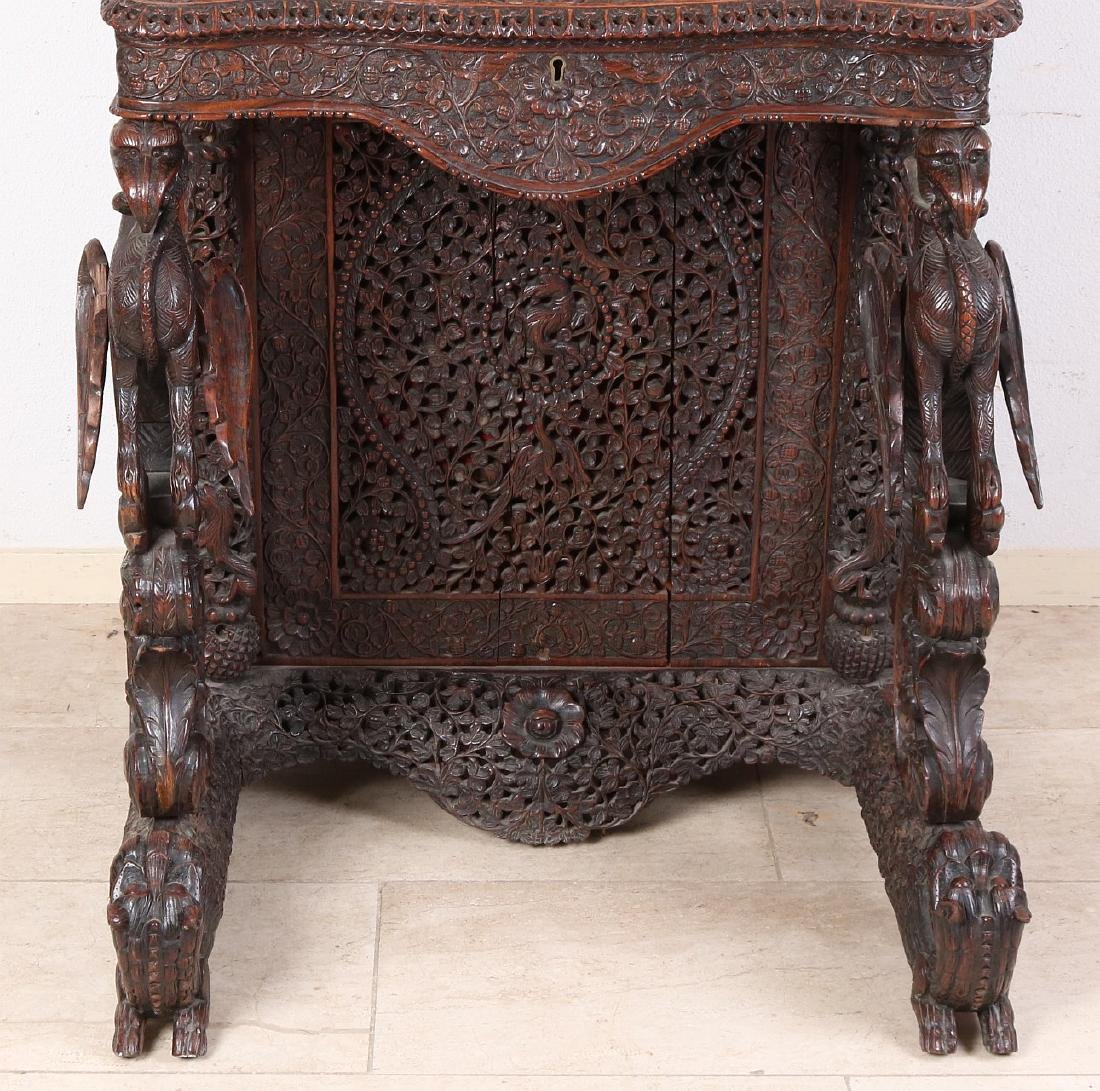Antique colonial wood-carved 19th century English - 6