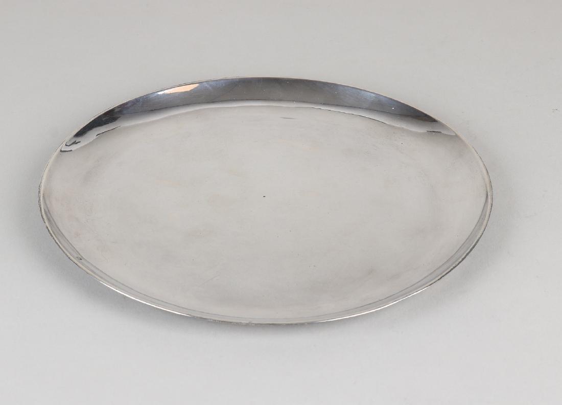 Silver silver platter, 950/000, Paris, round smooth