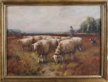 Martinus Nefkens. 1866 - 1941. Sheep shepherd with dog