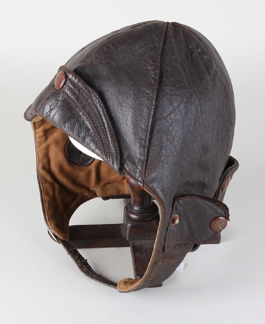 Antique leather head cover (motor). Circa 1900 - 1940.