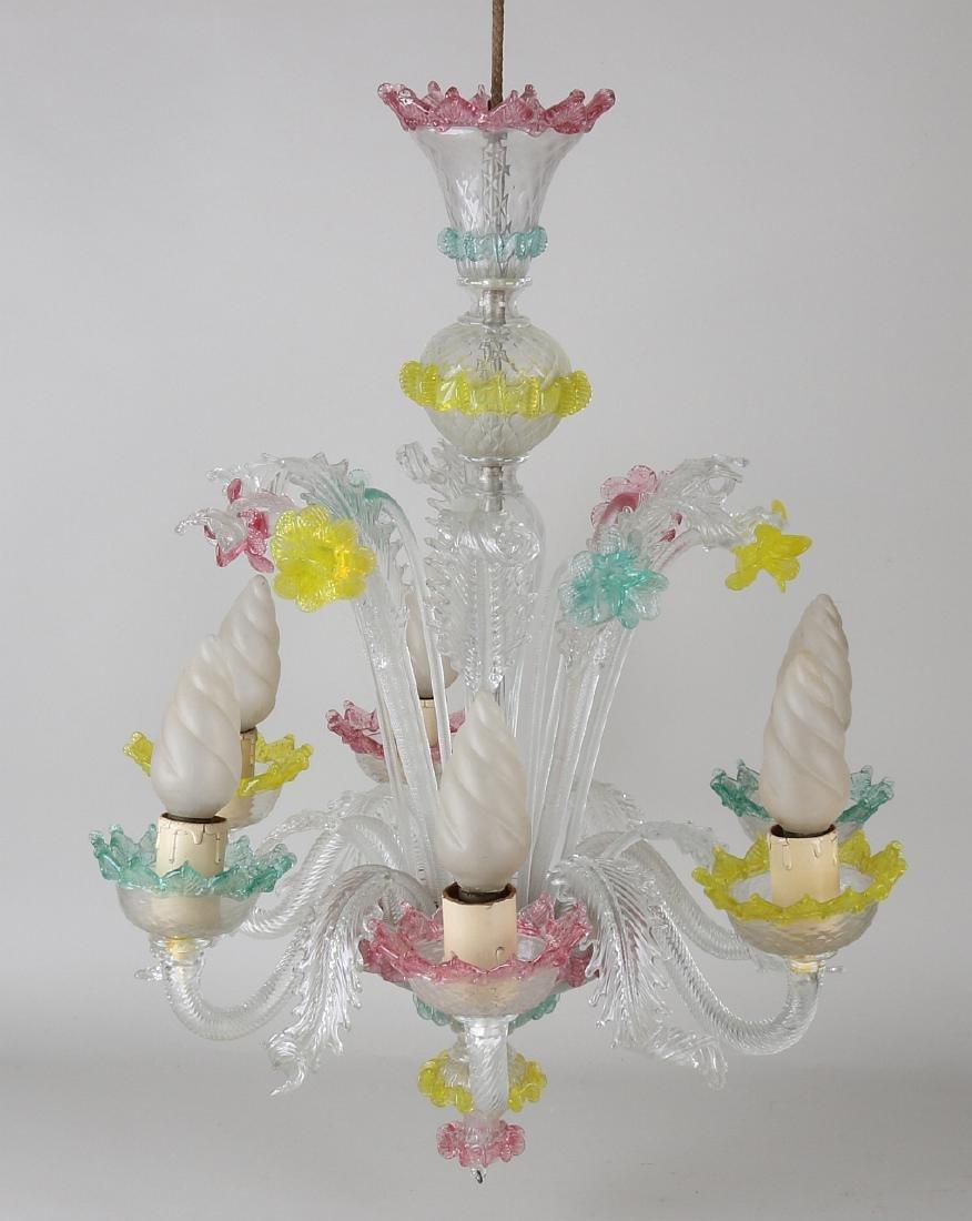 Great gift old Italian Murano chandelier. 20th century.