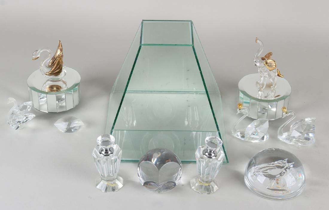 Lot of old glass / crystal. 20th century. Consisting