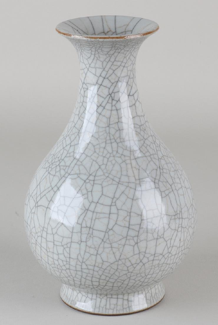 Old Chinese porcelain vase with crackle glaze and