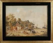 Pieter Gerardus van Os. 1776 - 1839. Farm with cattle