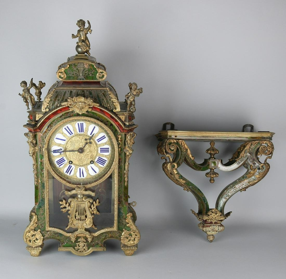 19th century French bouille clock with original console