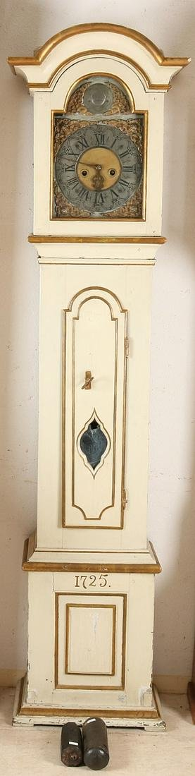 Early 18th century German grandfather clock. Anno 1725.