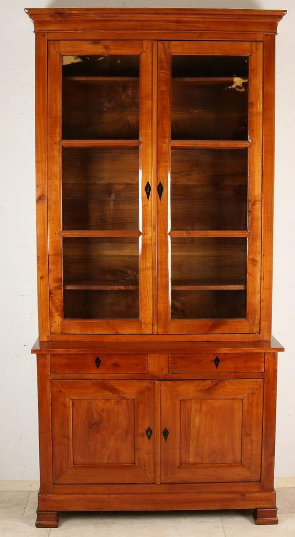 19th century cherry wood bookcase. France, circa 1860.